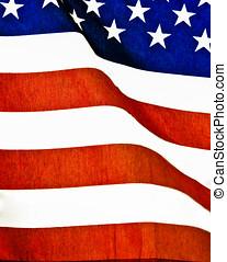 americano, closeup, bandiera, estremo