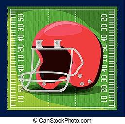 americano, concetto, disegno, football