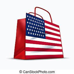 americano, consumidor, confiança