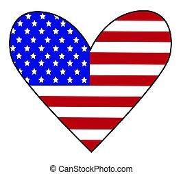americano, coração