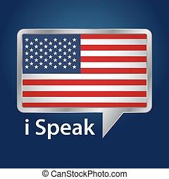 americano, dentro, bubble-01.eps, fala, bandeira