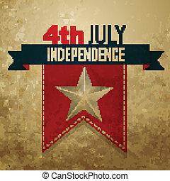 americano, dia, independência