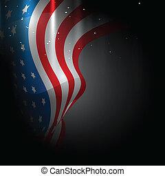americano, disegno, bandiera