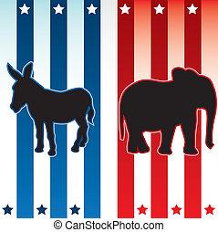 americano, elezione, illustrazione
