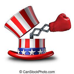 americano, elezione, strategia