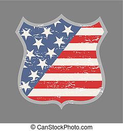 americano, emblema