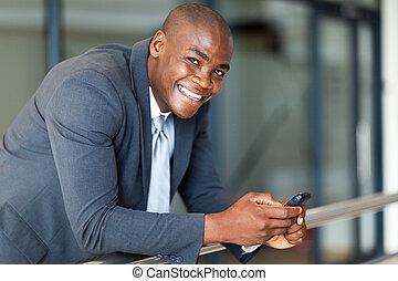 americano, executivo, negócio, africano