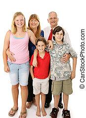 americano, família, típico