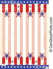 americano, fondo, danneggiato