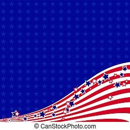 americano, fondo, fluente