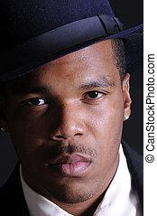 americano, giovane africano