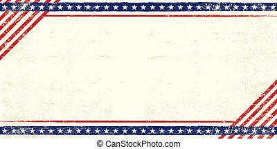 americano, grunge, cartão postal