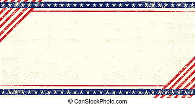 americano, grunge, cartolina