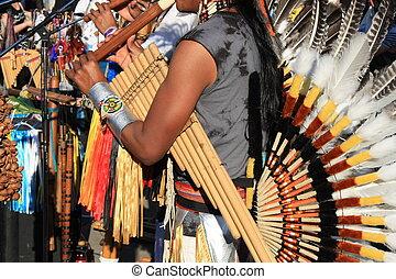 americano, musica, sud, nativo