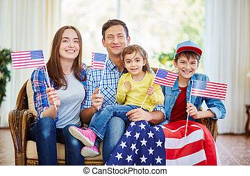 americano nativo, família