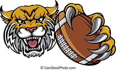 americano, palla, football tiene, wildcat