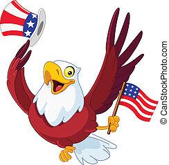 americano, patriótico, águia