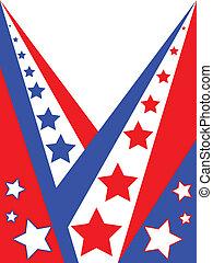 americano, patriótico, fundo