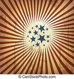 americano, patriótico, retro, experiência., vetorial, eps10