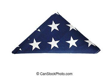americano, piegato, bandiera
