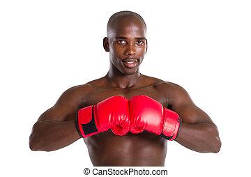 americano, pugilato, uomo africano