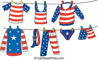 americano, roupas