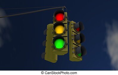 americano, semáforos