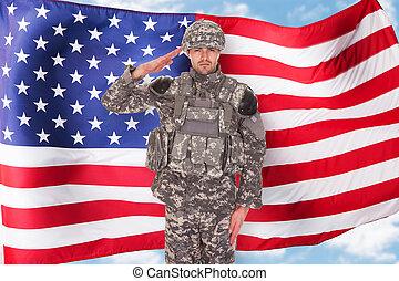americano, soldado