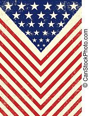 americano, sujo, bandeira