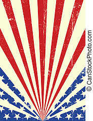 americano, sujo, bandeira, fundo