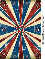 americano, sujo, cartaz