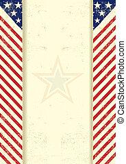 americano, sujo, quadro