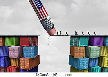 americano, trafficare, sanzioni