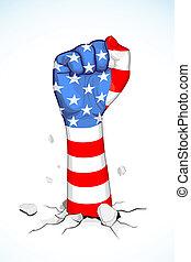americano, unidade