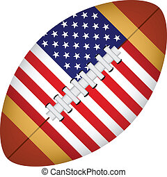 americano, vetorial, futebol