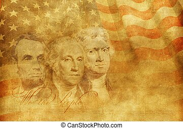 Americas Founding Fathers Concept Illustration. United...