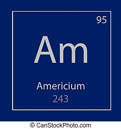 Americium Am chemical element icon- vector illustration