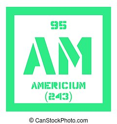 Americium chemical element. Radioactive transuranic chemical...