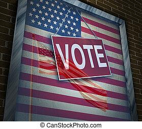 americký, hlasovat