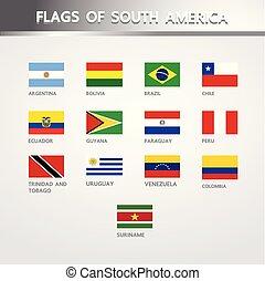 amerika, flaggan, syd