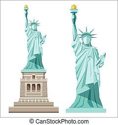 amerika, statue, frihed