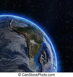 amerika, zuiden, ruimte