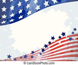 amerikaan, achtergrond, vloeiend
