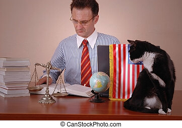 amerikaan, advocaat
