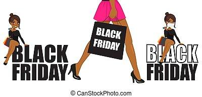 amerikaan, afrikaan, black , vrijdag, vrouw