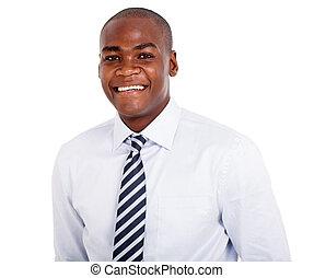 amerikaan, afrikaan, closeup, zakenmens