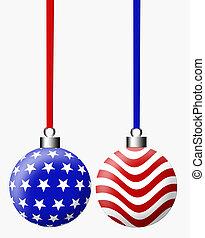 amerikaan, b, kerstmis