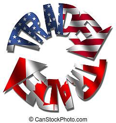 amerikaan, canadees, handel