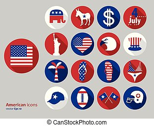 amerikaan, communie, ontwerp