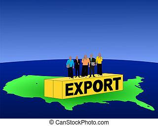 amerikaan, container, handel team